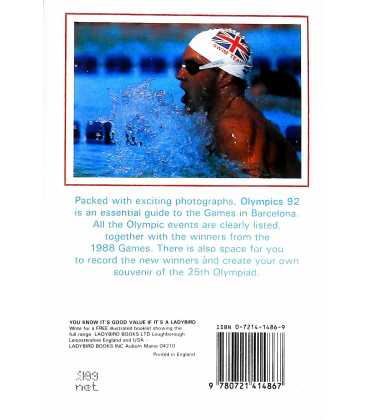 Olympics '92 Back Cover