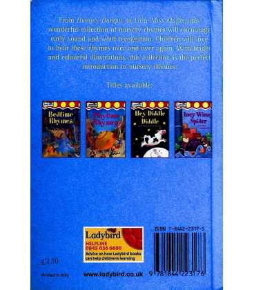 Humpty Dumpty and Other Nursery Rhymes  Back Cover