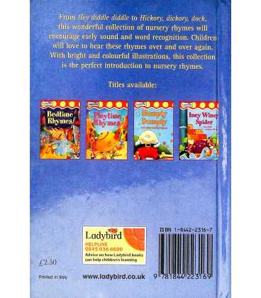 Hey Diddle Diddle and Other Nursery Rhymes Back Cover