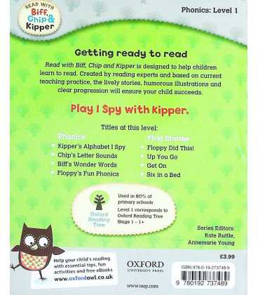 Kipper's Alphabet I Spy (Read With Biff, Chip & Kipper : Level 1) Back Cover