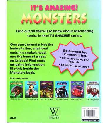 It's Amazing! Monsters Back Cover