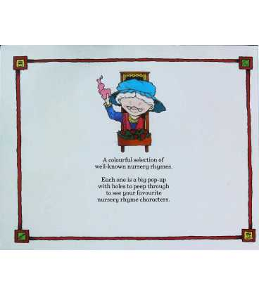 Peek-A-Boo! Pop-Up Nursery Rhymes Back Cover