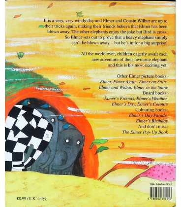 Elmer and the Wind Back Cover
