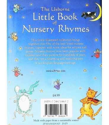 The  Usborne Little Book of Nursery Rhymes Back Cover