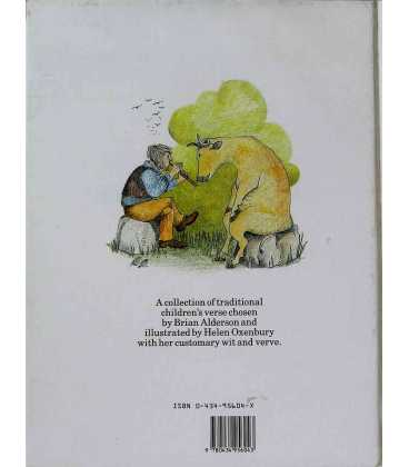 The Helen Oxenbury Nursery Rhyme Book Back Cover