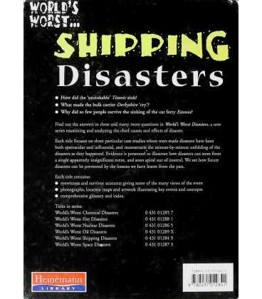 Shipping Disasters Back Cover
