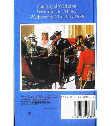 Royal Wedding: Andrew and Sarah Back Cover