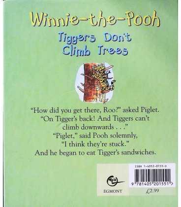 Winnie-the-Pooh: Tiggers Don't Climb Trees Back Cover