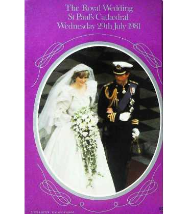 Royal Wedding (Special Publications) Back Cover