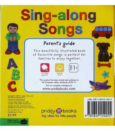 Sing-Along Songs Back Cover
